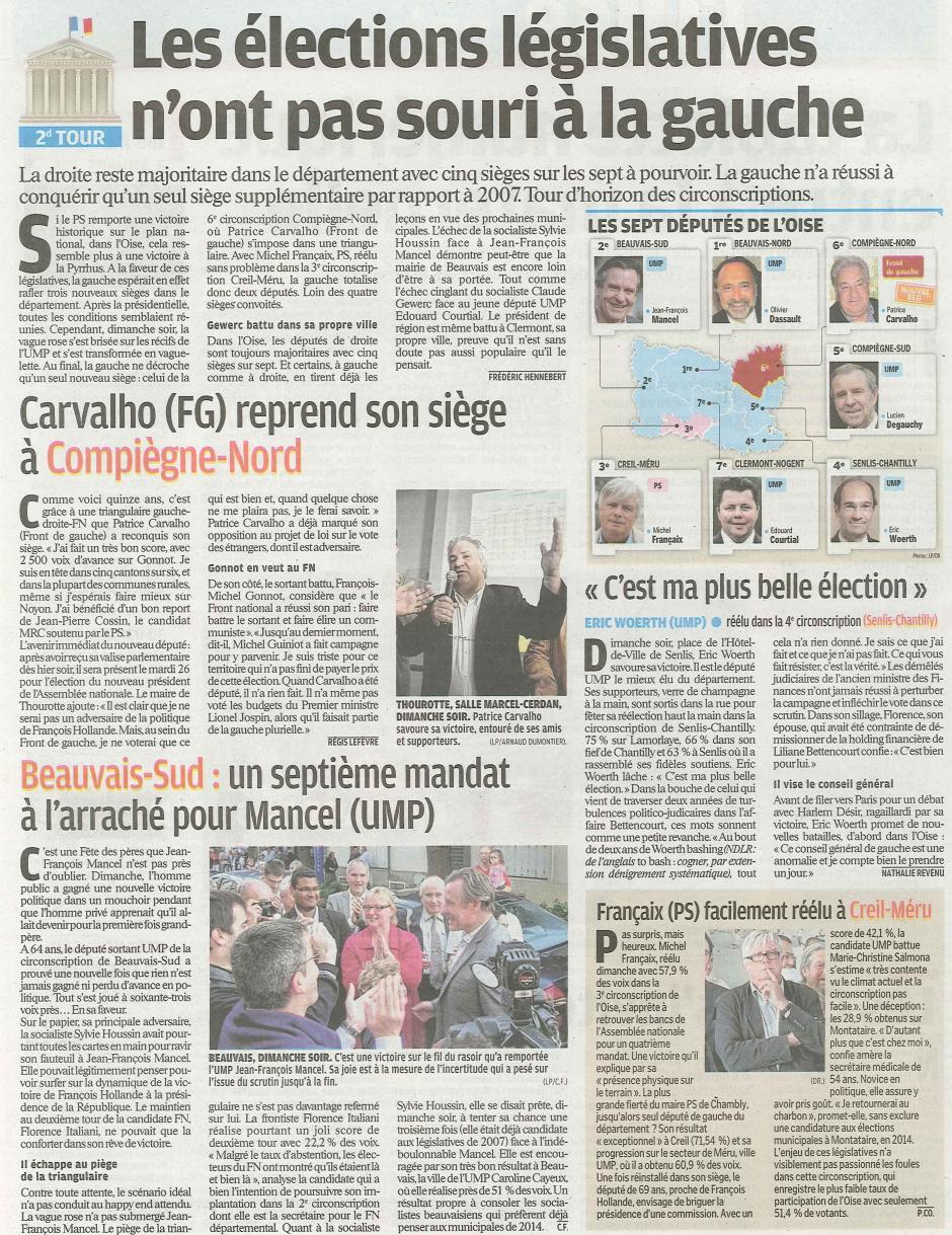 20120619-LeP-Oise-Les élections législatives n'ont pas souri à la gauche