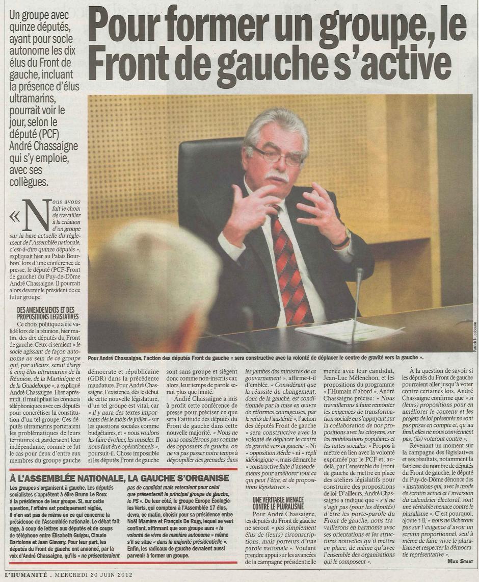 20120620-L'Huma-France-Pour former un groupe, le Front de gauche s'active