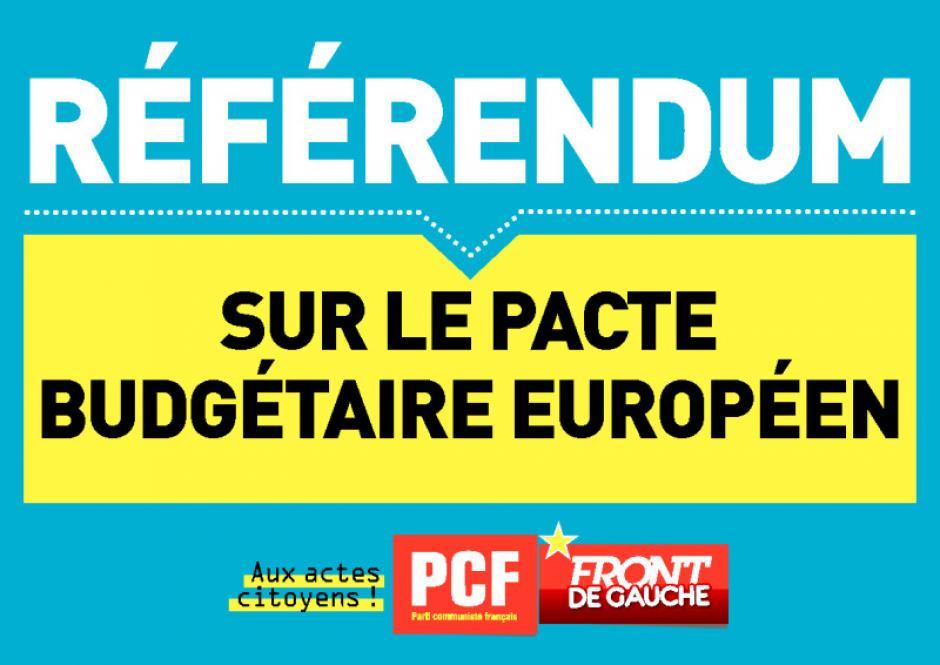 Affichette pour un référendum sur le pacte budgétaire européen - Été 2012