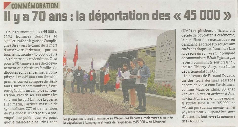 20120708-CP-Compiègne-Il y a 70 ans : la déportation des « 45 000 »