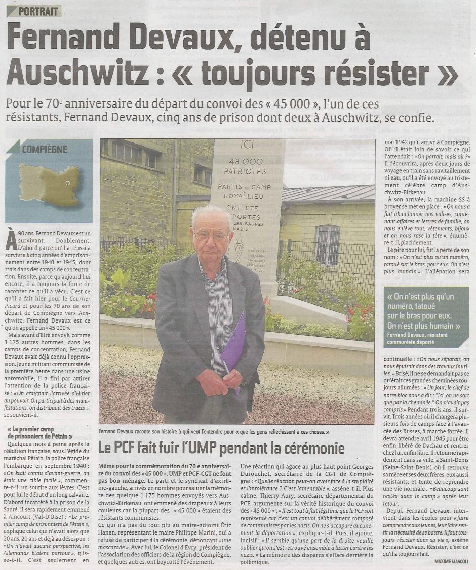 20120708-CP-Compiègne-Fernand Devaux, détenu à Auschwitz : « Toujours résister »