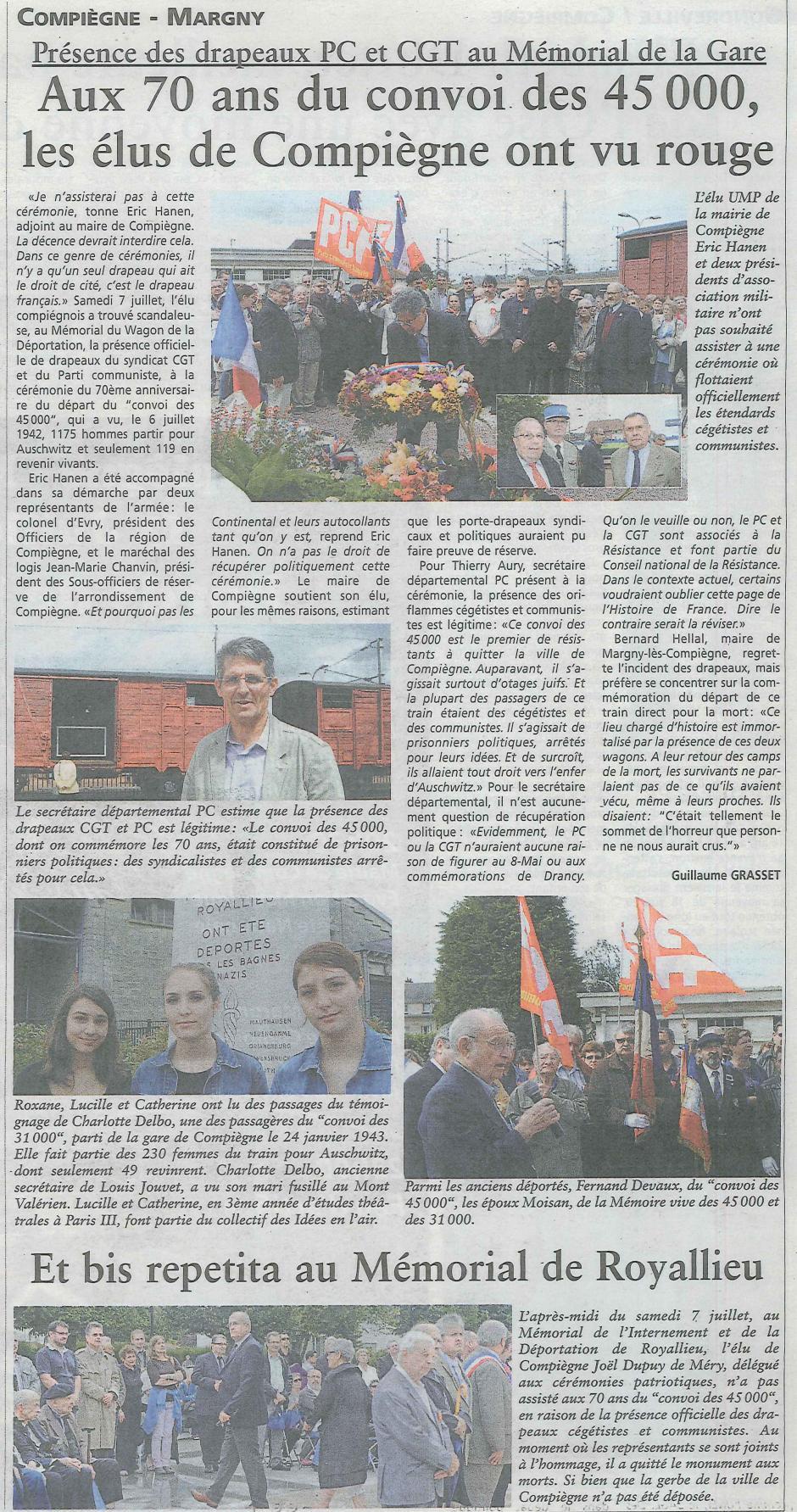 20120711-OH-Compiègne-Aux 70 ans du convoi des 45 000, les élus de Compiègne ont vu rouge