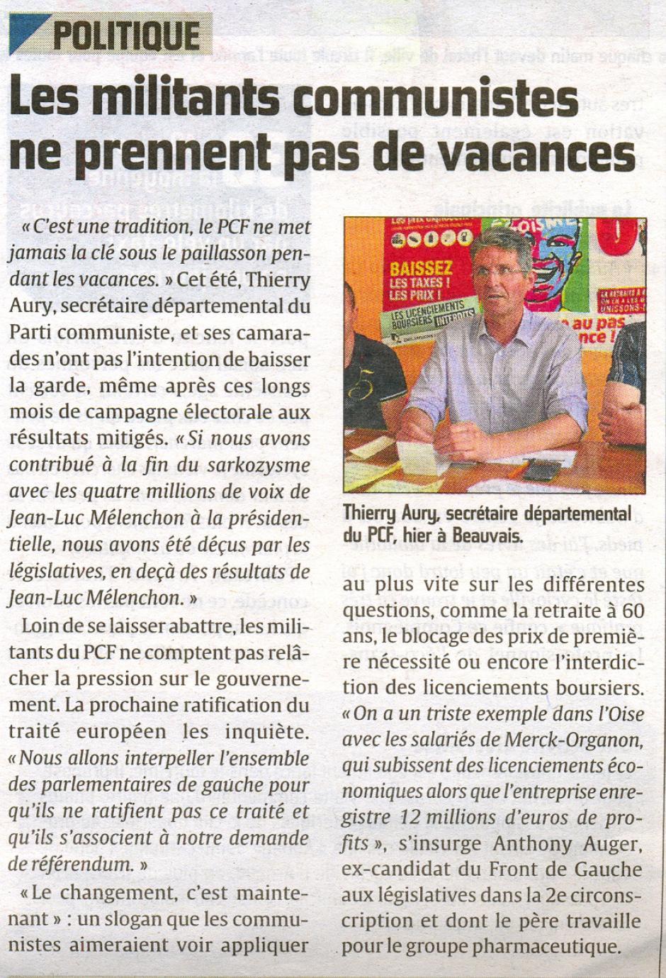 20120713-CP-Oise-Les militants communistes ne prennent pas de vacances