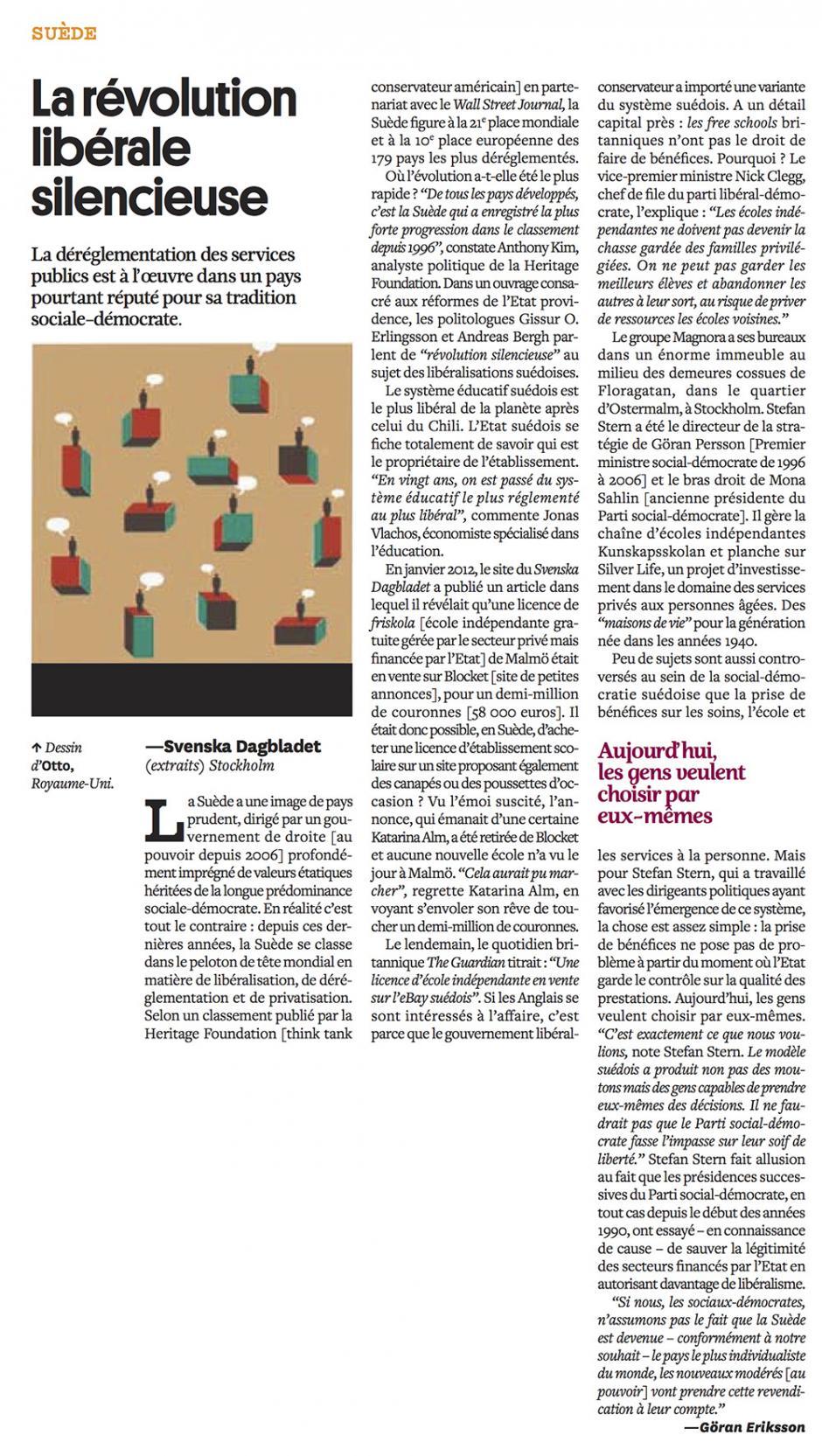 20121018-Courrier international-Suède, la révolution libérale silencieuse