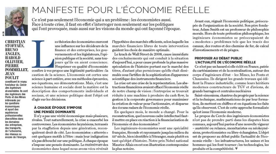 20121019-La Tribune-Manifeste pour l'économie réelle
