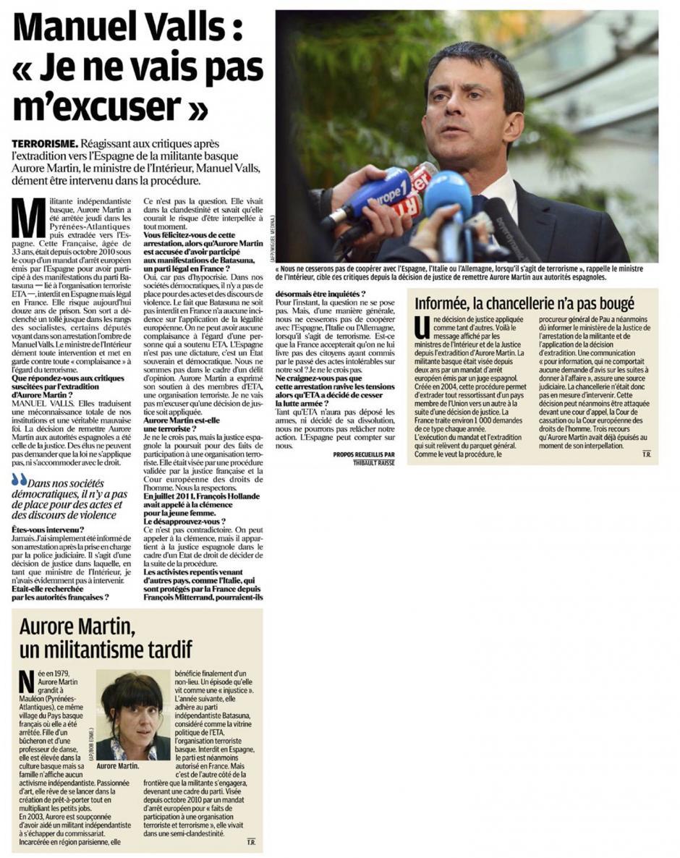20121105-LeP-Manuel Valls « Je ne vais pas m'excuser »