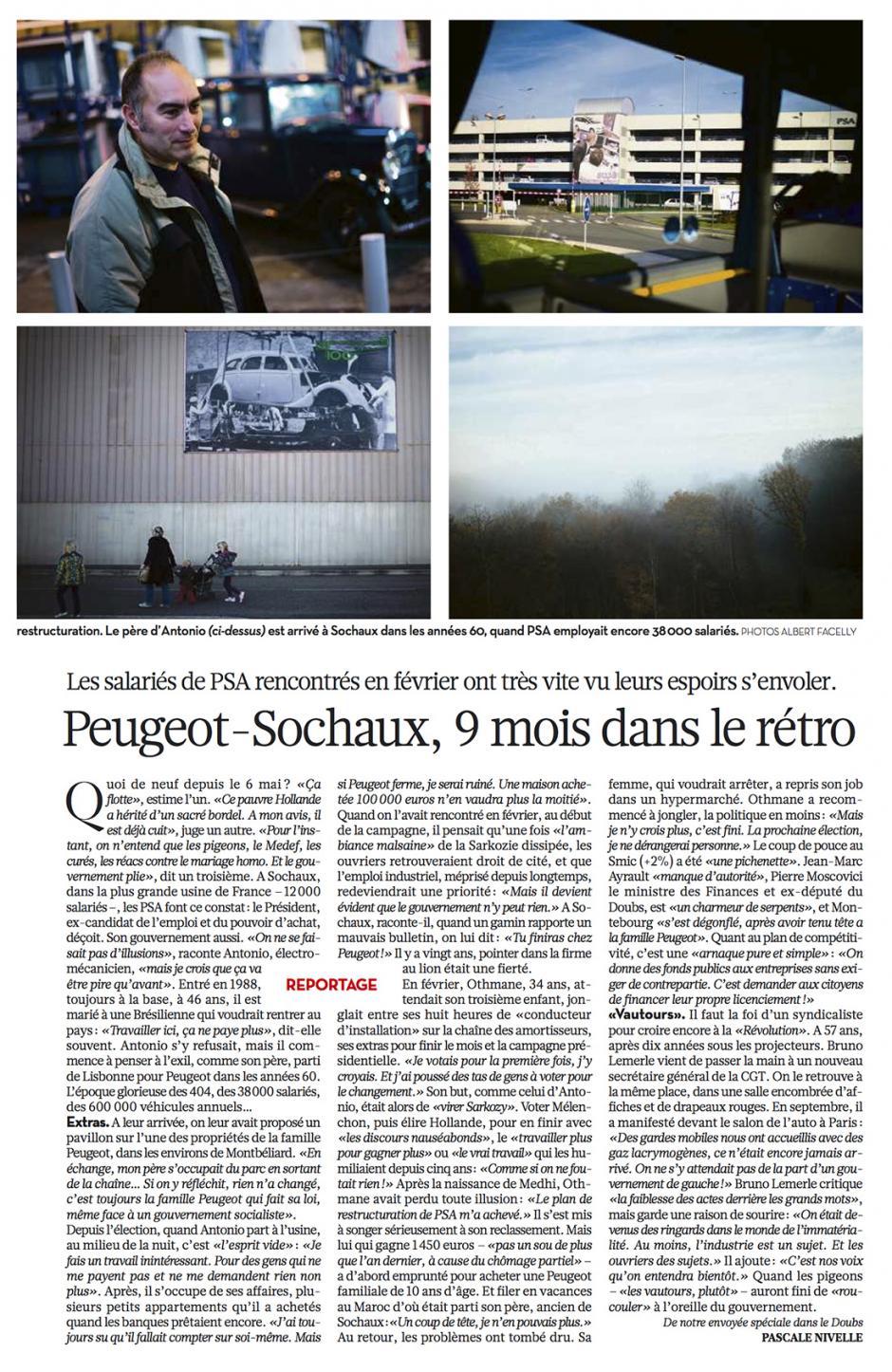 20121113-Libération-Peugeot-Sochaux, 9 mois dans le rétro