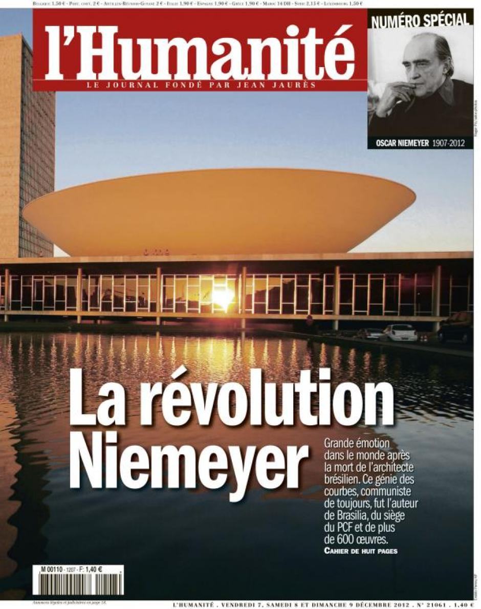 20121207-L'Huma-Numéro spécial Oscar Niemeyer