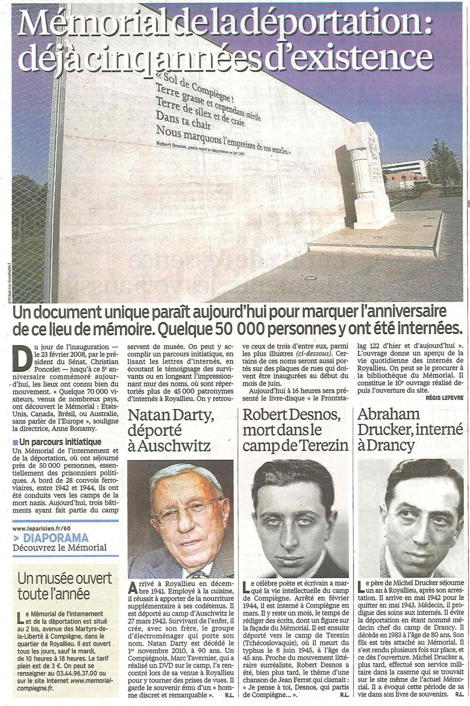 20130302-LeP-Compiègne-Mémorial de la déportation : déjà cinq années d'existence