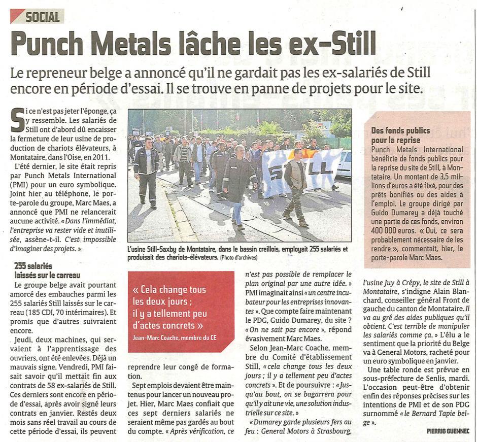 20130303-CP-Montataire-Punch Metals lâche les ex-Still, Alain Blanchard réagit