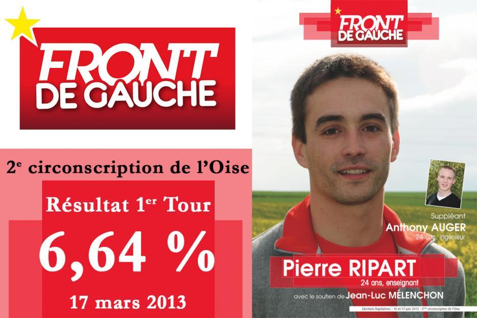 Résultats de la Législative partielle Beauvais-Sud - 17 mars 2013