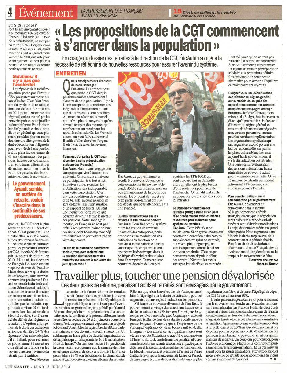 20130603-L'Huma-L'avertissement des Français avant la réforme-p.4