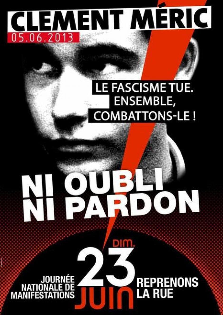 23 juin, Paris - Manifestation « Clément Méric, ni oubli ni pardon »