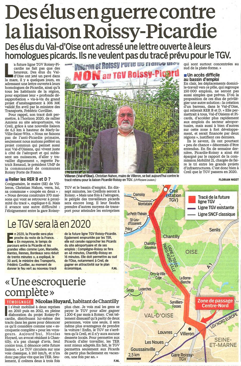 20130702-LeP-Picardie-Des élus en guerre contre la liaison Roissy-Picardie