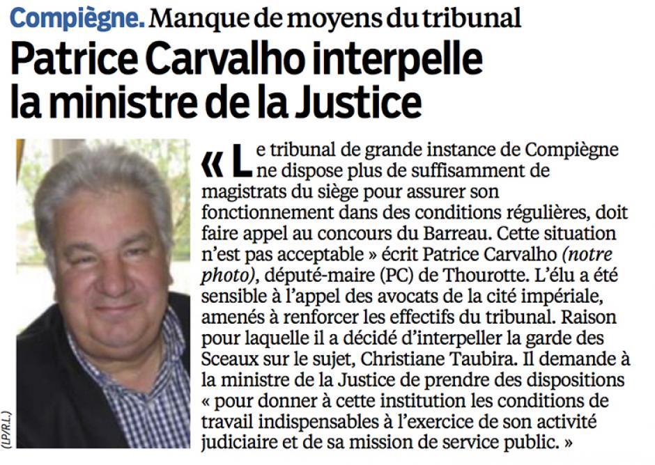 20130730-LeP-Compiègne-Patrice Carvalho interpelle la ministre de la justice [à propos du tribunal]