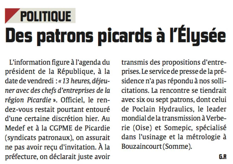 20131009-CP-Picardie-Des patrons à l'Élysée vendredi