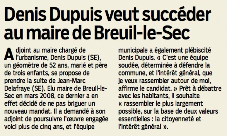 20131009-LeP-Breuil-le-Sec-M2014-Denis Dupuis veut succéder au maire
