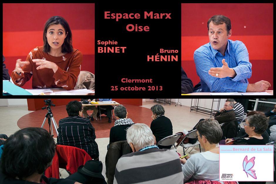 Bruno Hénin et Sophie Binet présentent la situation sociale et économique, ainsi que la place et le rôle des salariés - Clermont, 25 octobre 2013