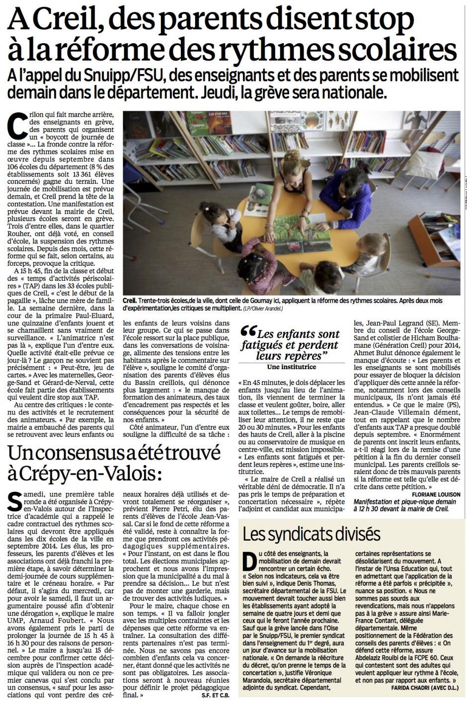 20131112-LeP-Creil-Des parents disent stop à la réforme des rythmes scolaires-Un consensus a été trouvé à Crépy-en-Valois-Les syndicats divisés