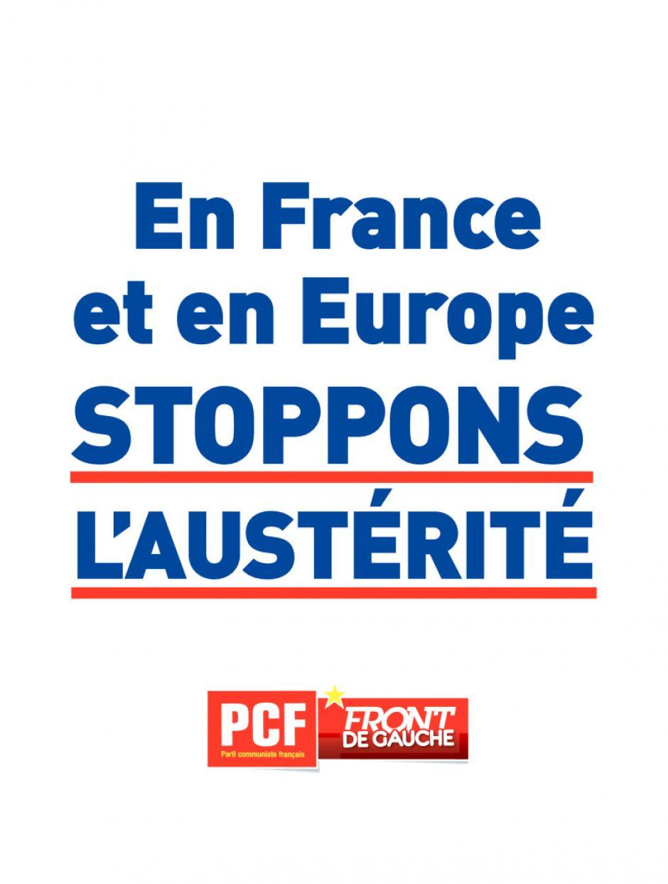 Affiche PCF contre l'austérité en France et en Europe - 13 novembre 2013