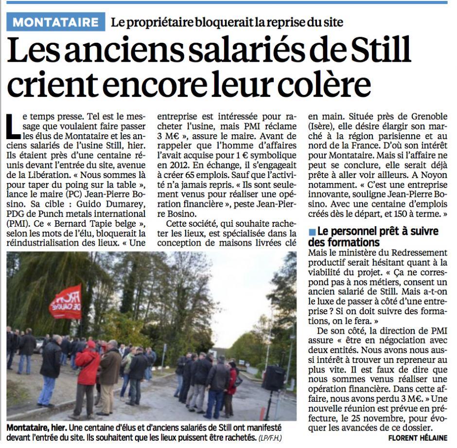 20131116-LeP-Montataire-Les anciens salariés de Still crient leur colère