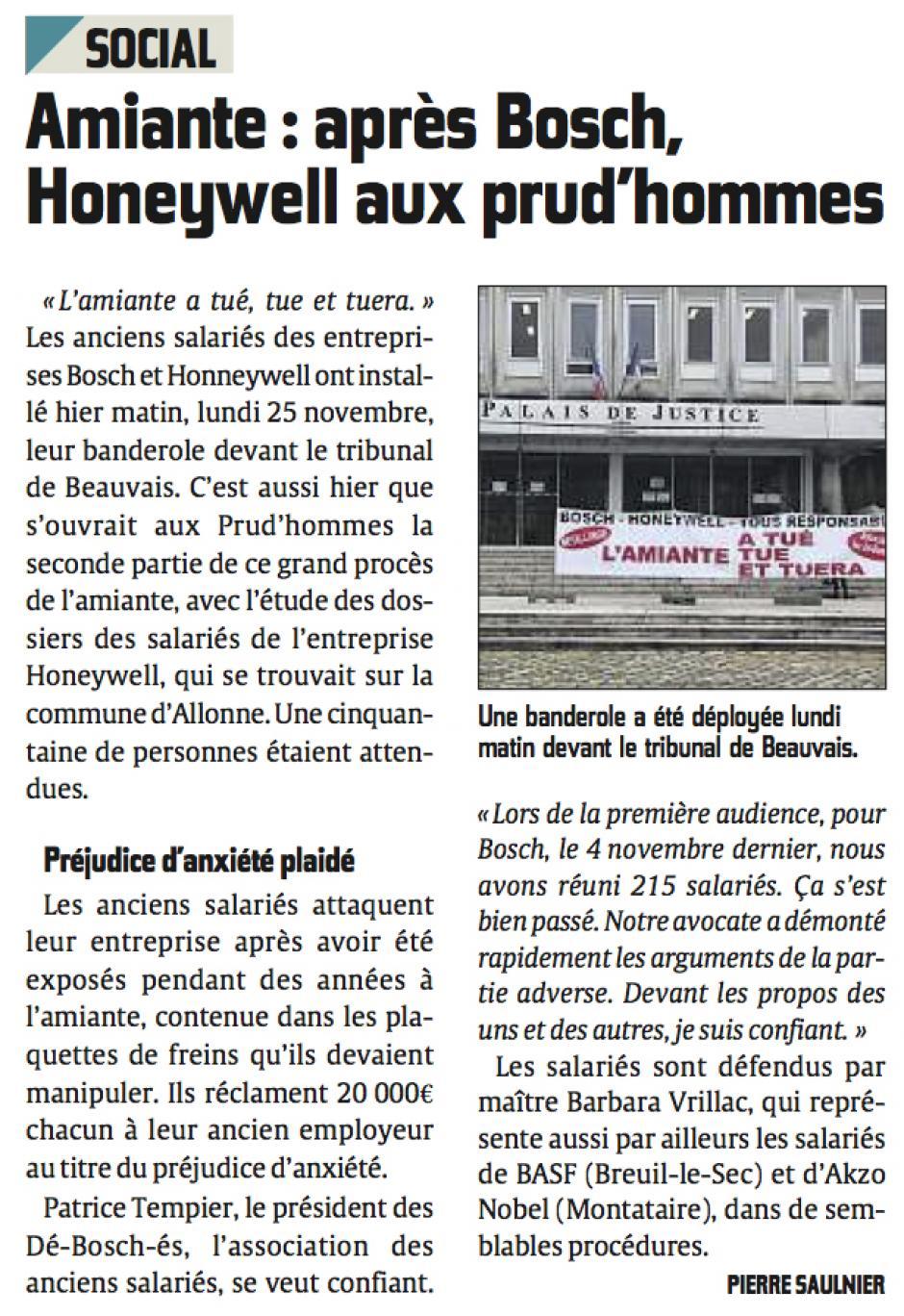 20131126-CP-Allonne-Amiante : après Bosch, Honeywell aux prud'hommes