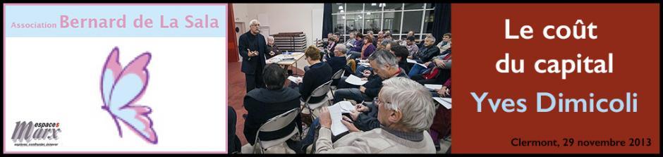 Conférence-débat « Le coût du capital » avec Yves Dimicoli