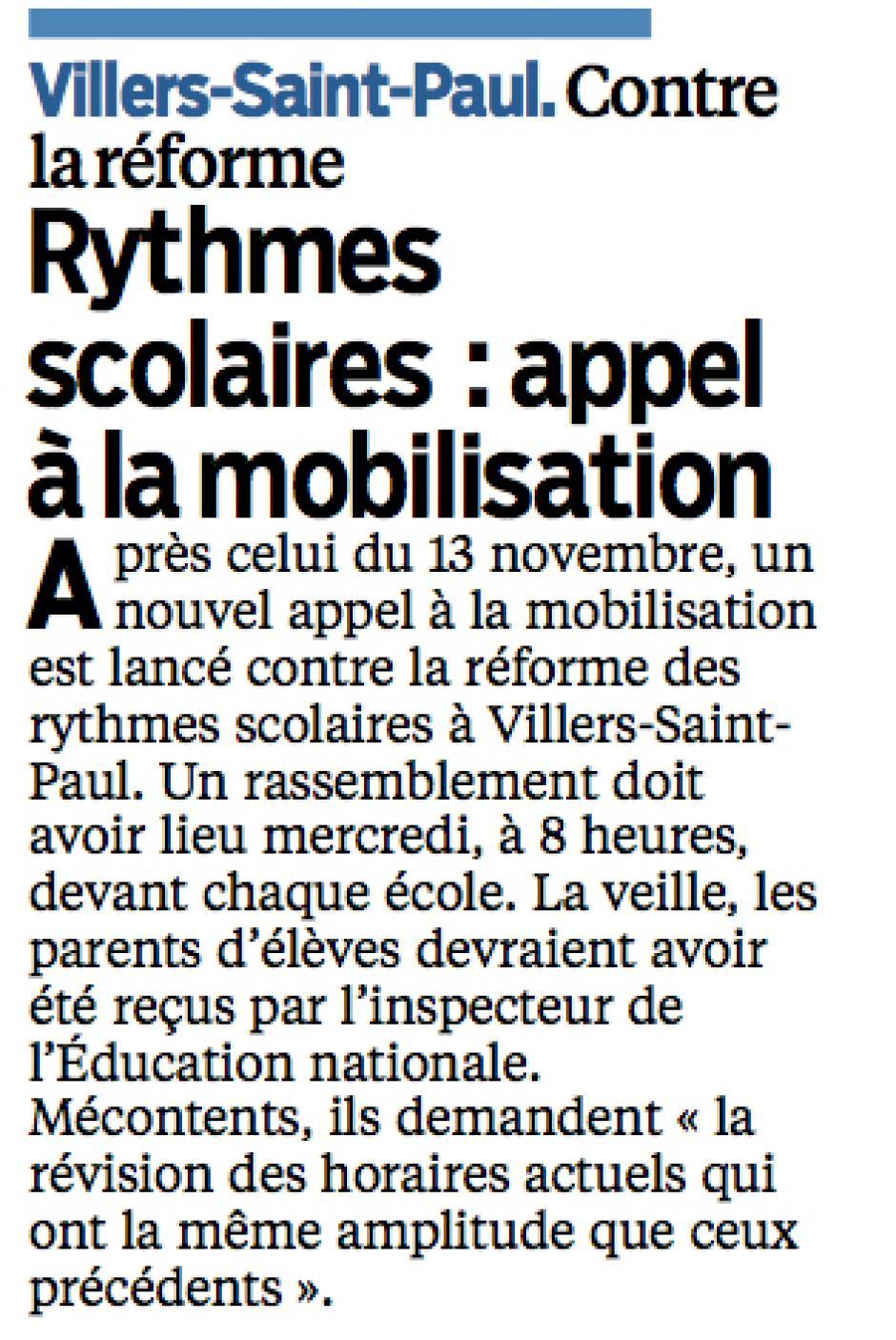 20131209-LeP-Villers-Saint-Paul-Rythmes scolaires : appel à la mobilisation
