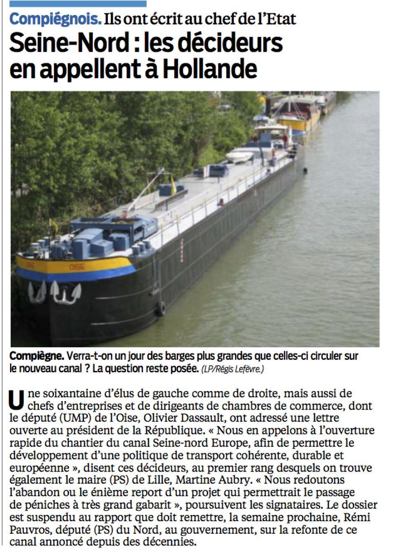 20131210-LeP-Oise-Canal Seine-Nord Europe : les décideurs en appellent à Hollande