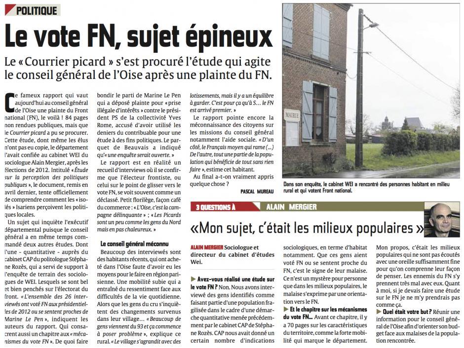 20131214-CP-Oise-Le vote FN, sujet épineux