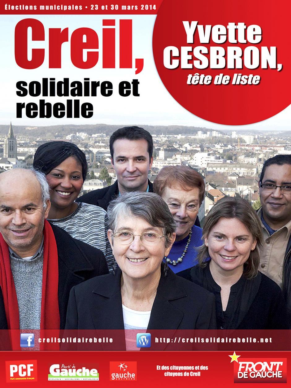 Élections municipales 2014 • Creil • Liste « Creil, solidaire et rebelle »