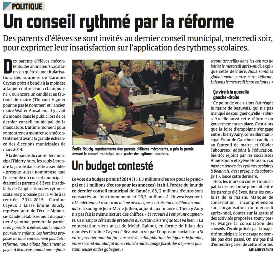 20131220-CP-Beauvais-Un conseil rythmé par la réforme [rythmes scolaires]