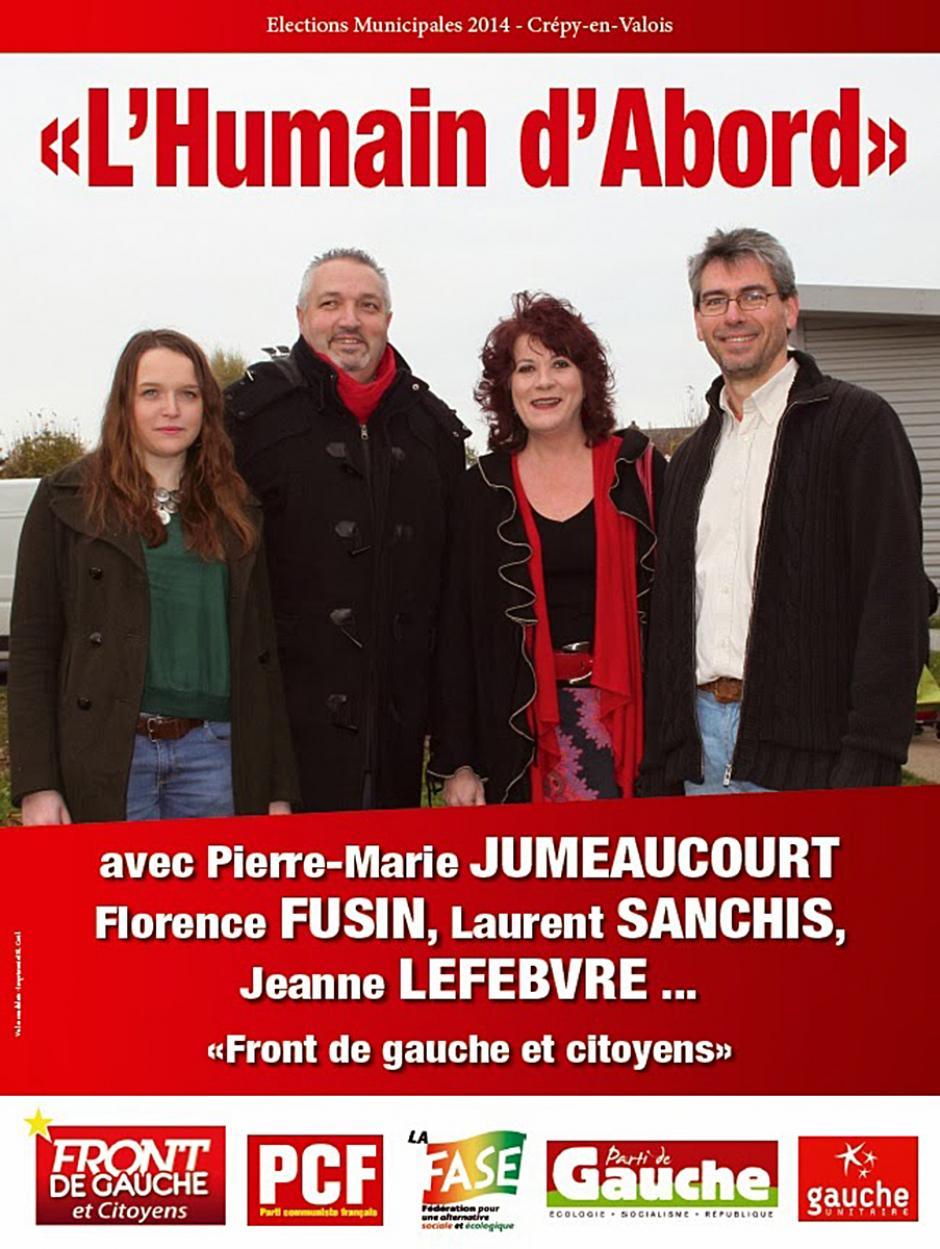 Élections municipales 2014 • Crépy-en-Valois • Liste « L'humain d'abord »