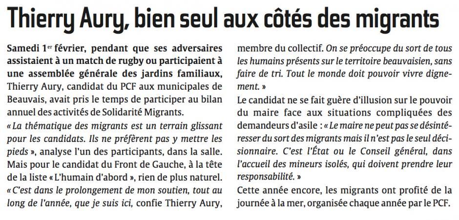 20140205-CP-Beauvais-M2014-Thierry Aury, bien seul aux côtés des migrants