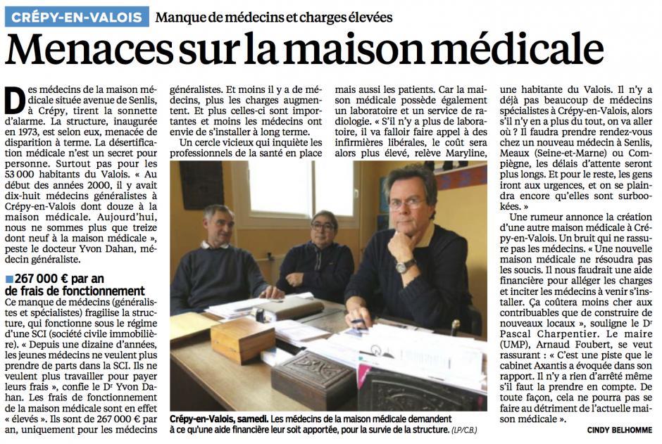 20140224-LeP-Crépy-en-Valois-Menaces sur la maison médicale