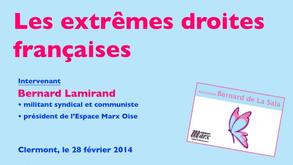Bernard Lamirand et les extrêmes droites françaises - Clermont, 28 février 2014
