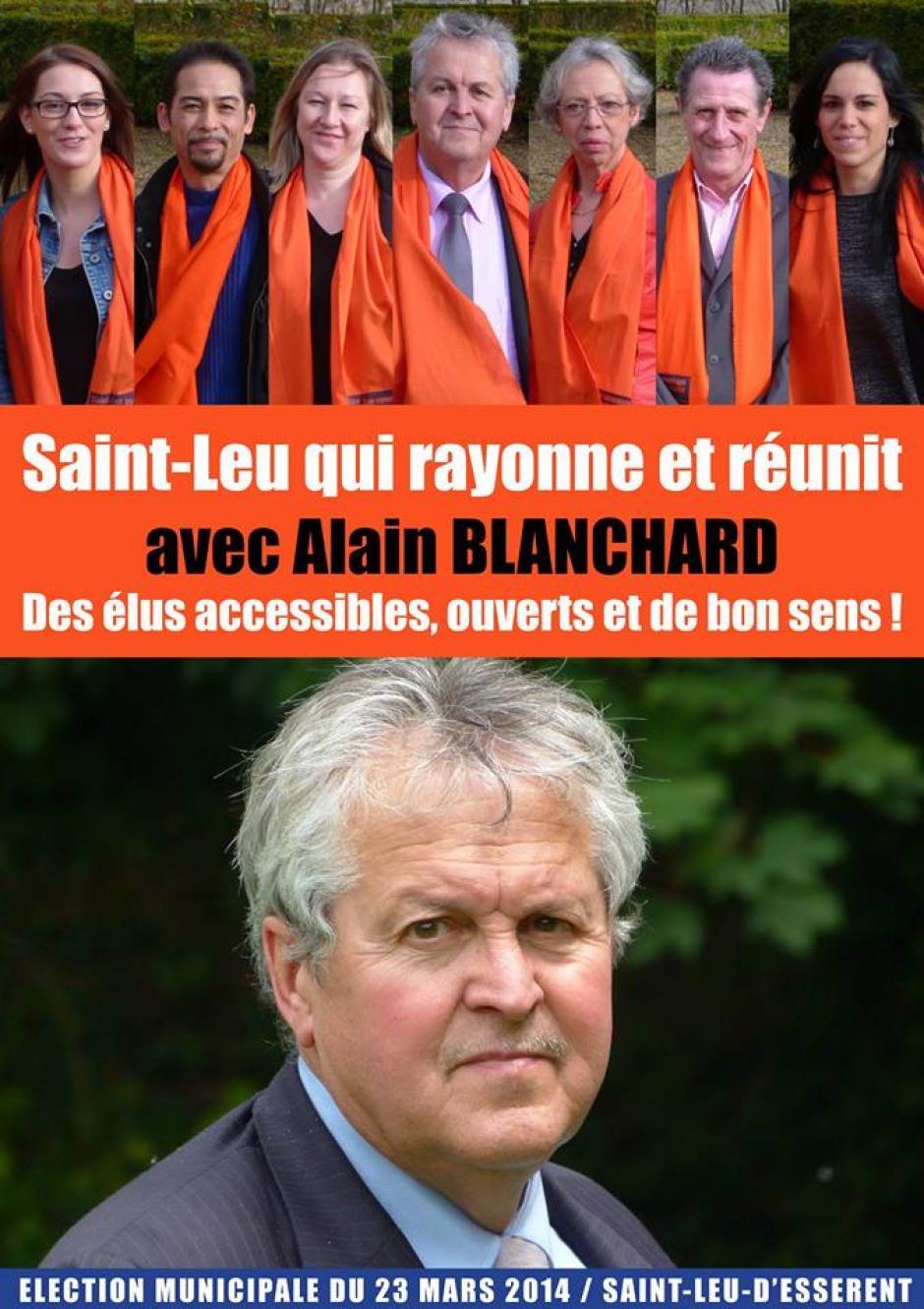 Élections municipales 2014 • Saint-Leu-d'Esserent • Liste « Saint-Leu, une commune qui rayonne et réunit »