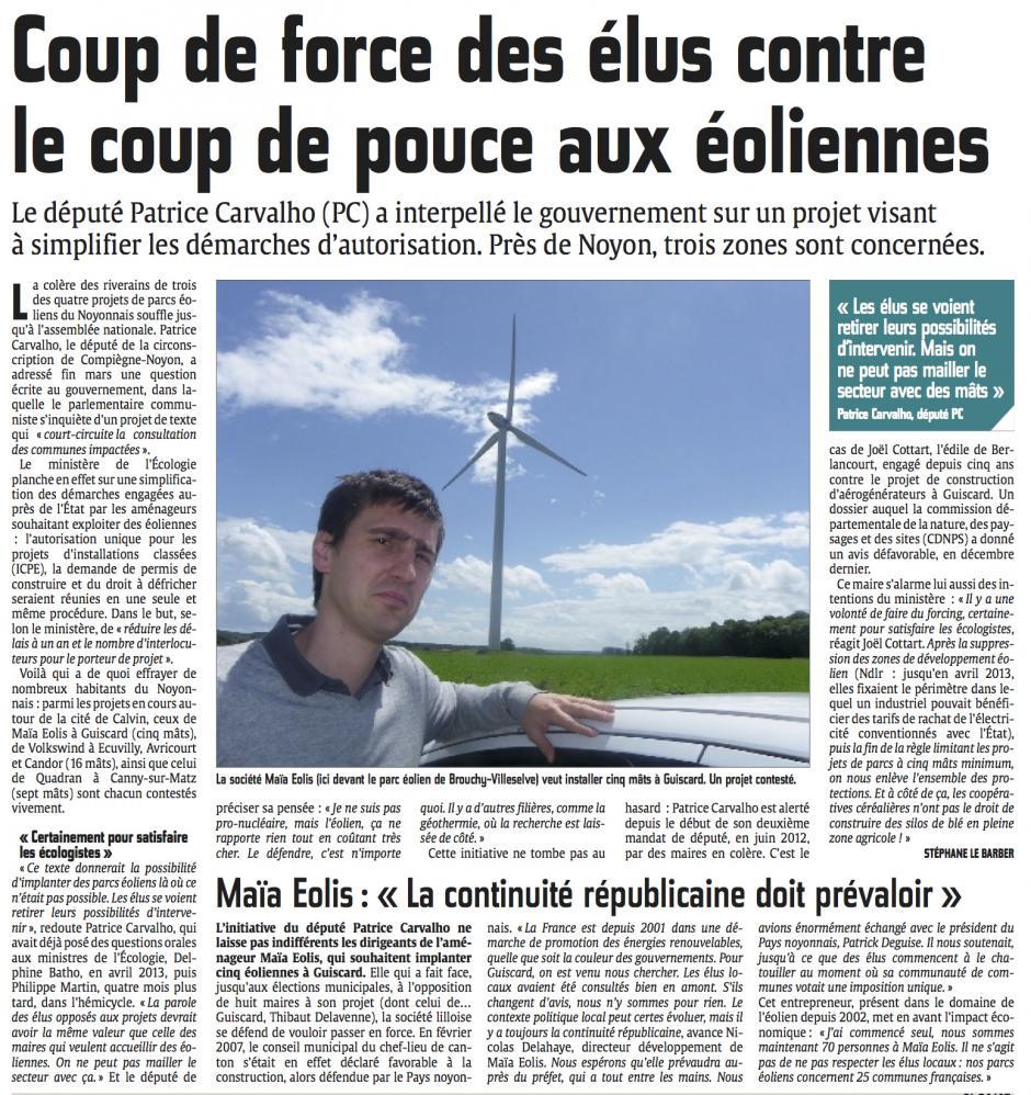 20140403-CP-Noyonnais-Coup de force des élus contre le coup de pouce aux éoliennes [Patrice Carvalho]