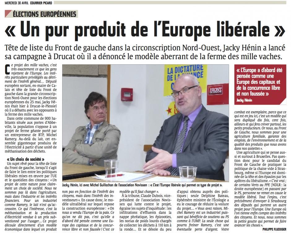 20140430-CP-Drucat-le-Plessiel-E2014-Jacky Hénin : la ferme des mille vaches « Un pur produit de l'Europe libérale »