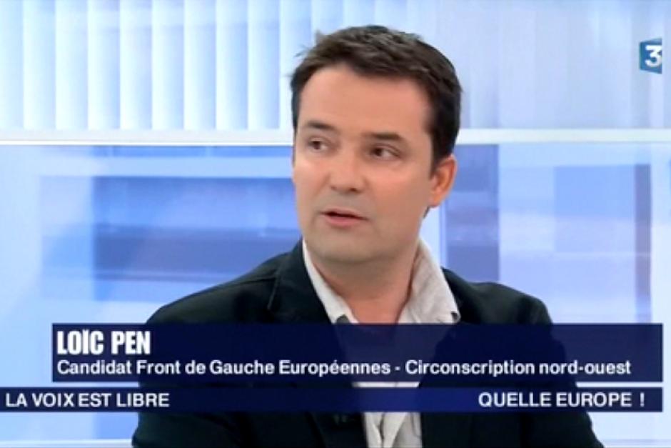 France 3 Picardie-La voix est libre-Européennes 2014 avec Loïc Pen - 17 mai 2014