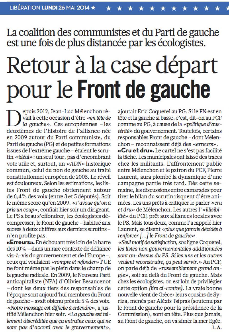 20140526-Libé-France-E2014-Retour à la case départ pour le Front de gauche