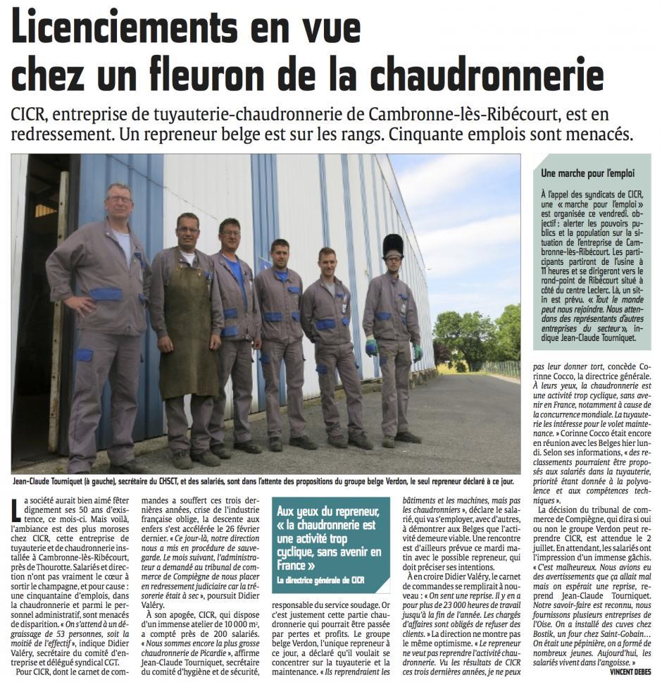 20140624-CP-Cambronne-lès-Ribécourt-Licenciement en vue chez un fleuron de la chaudronnerie [CICR]