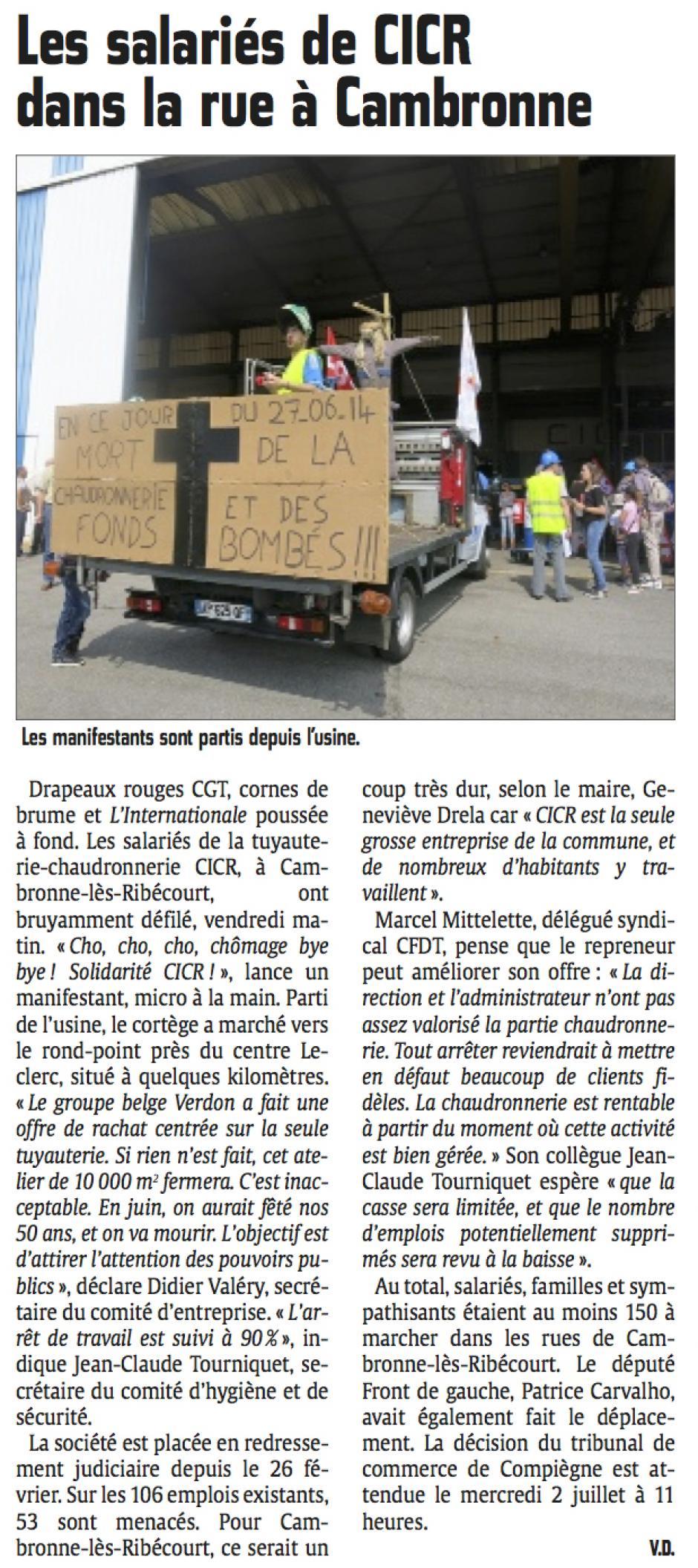 20140628-CP-Cambronne-lès-Ribécourt-Les salariés de CICR dans la rue de la ville