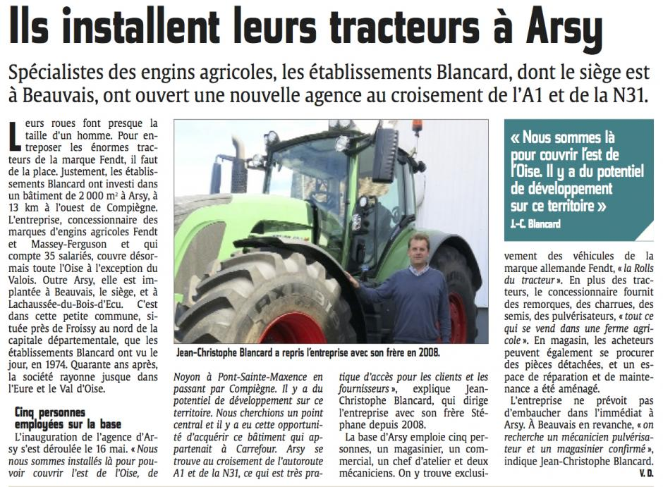 20140630-CP-Arsy-Les établissements Blancard installent leurs tracteurs dans la commune