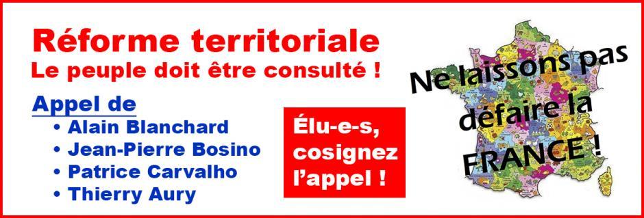 Élus, cosignez l'appel « Réforme territoriale : le peuple doit être consulté ! » - Picardie, 19 juillet 2014