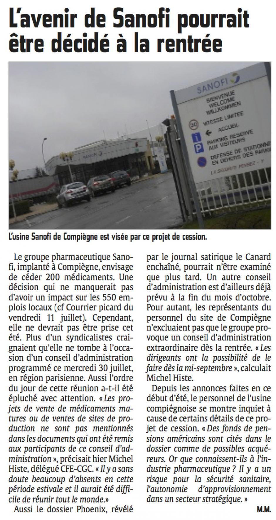 20140730-CP-Compiègne-L'avenir de Sanofi pourrait être décidé à la rentrée