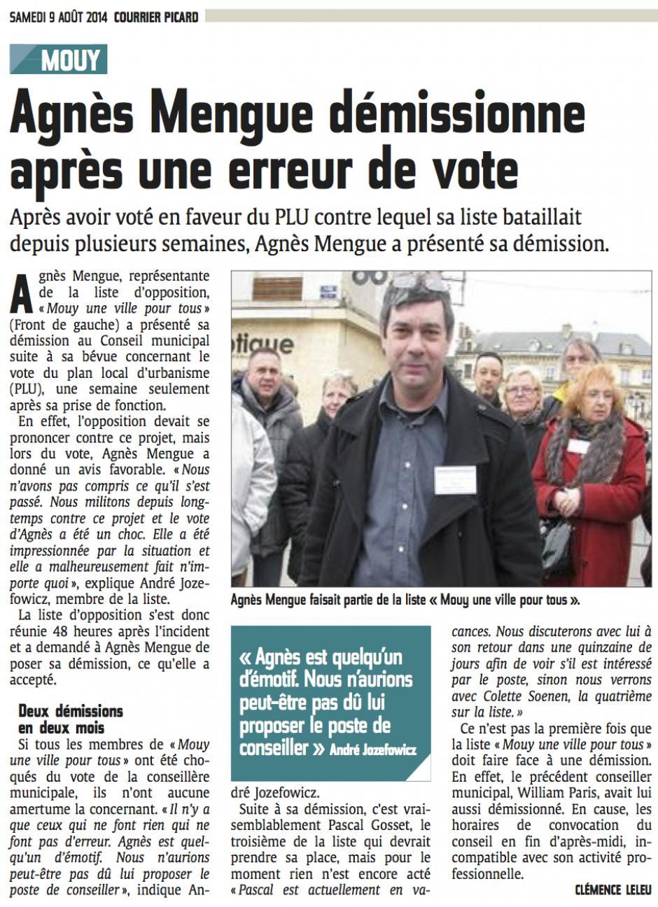 20140809-CP-Mouy-Agnès Mengue démissionne après une erreur de vote