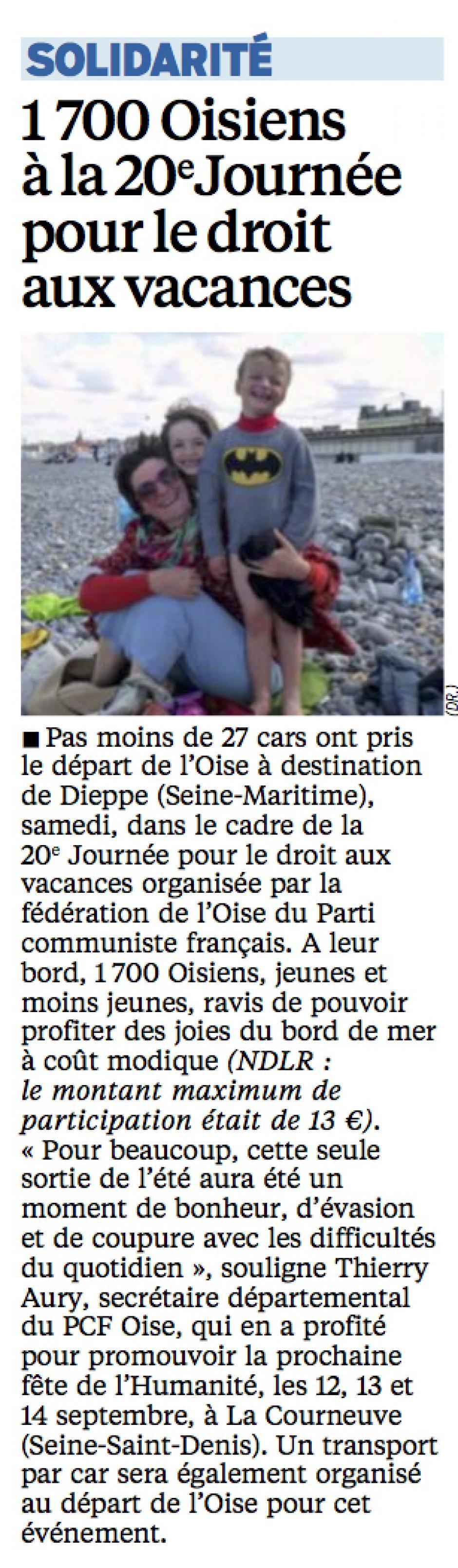 20140825-LeP-Oise-1 700 Oisiens à la 20e Journée pour le droit aux vacances