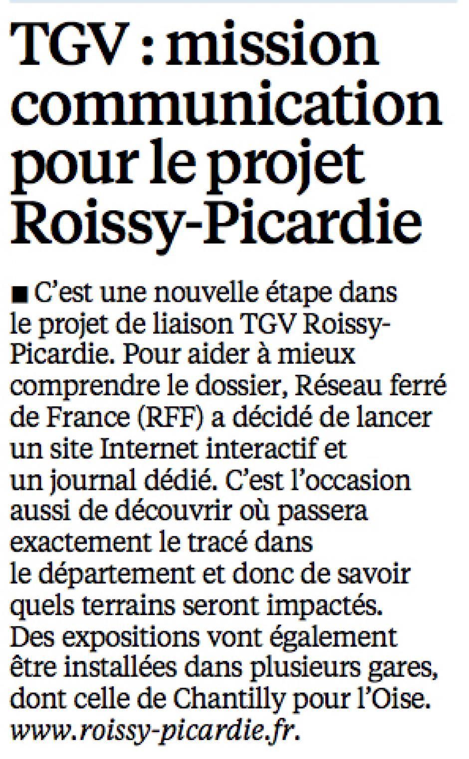 20140906-LeP-Oise-TGV : mission communication pour le projet Roissy-Picardie