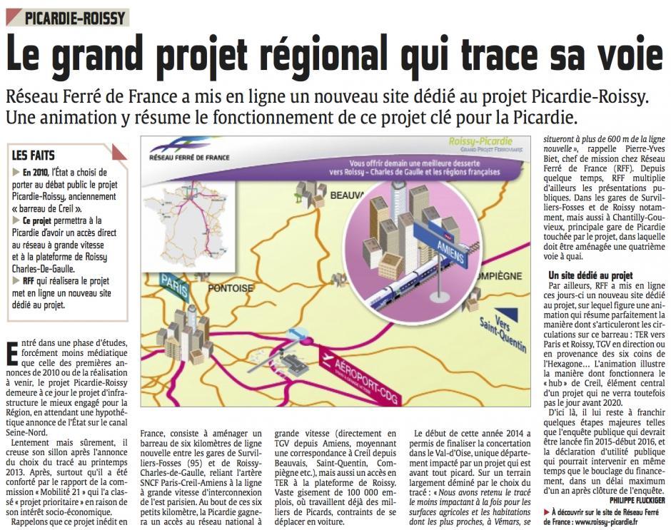 20140908-CP-Picardie-Le grand projet régional qui trace sa voie [SNCF, Roissy-Picardie]